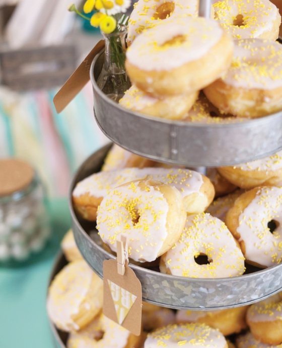 Donuts at weddings | L Photographie | blog.theknot.com
